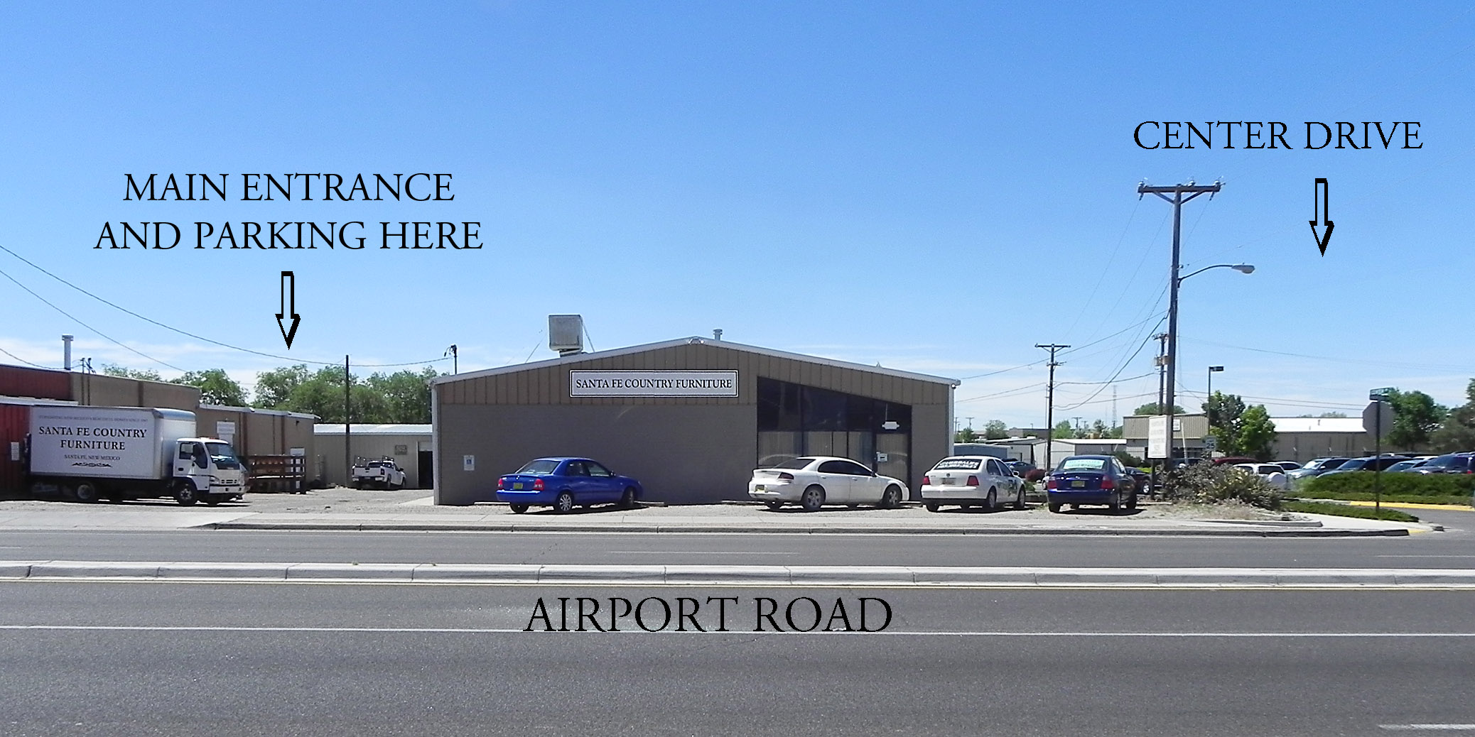 Attractive ON THE CORNER OF AIRPORT ROAD AND CENTER DRIVE. TURN ON TO CENTER DRIVE AND  TAKE FIRST LEFT INTO PARKING LOT. PLEASE CALL US At 505 660 4003 FOR ...